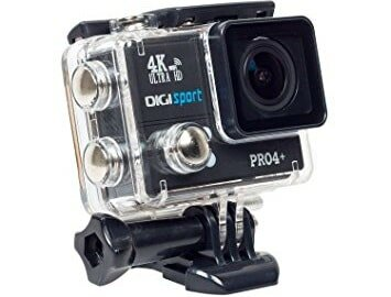 DigiSports Action Camera Pro 4+ with Wireless Shutter Remote Control Go Pro Style Sports Action Camera 4K Ultra HD with Wi-Fi 20 Megapixels