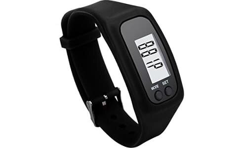 Elios Pedometer Step Distance Calorie Counter Digital White Dial Men's And Women's Watch-El-Pd-01-Black-03