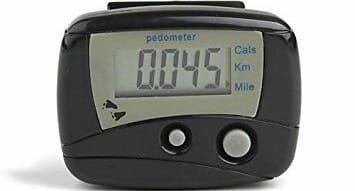 Gadget Hero's Digital II LCD Pedometer Step Calories Counter. Walking Distance with Belt Clip