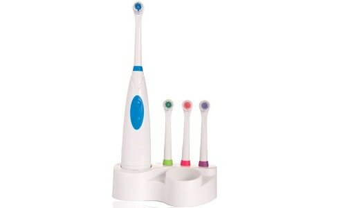 JSB HF27 Family Power Toothbrush with 4 Brush Heads and Storage Stand