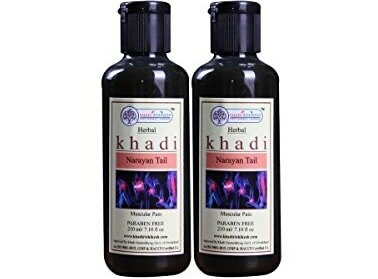 KHADI RISHIKESH Herbal Narayana Tel Paraben Free Ayurvedic Pain Relief Oil 210ML Pack